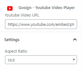 Screenshot 2 - Gosign Youtube Video Player Block