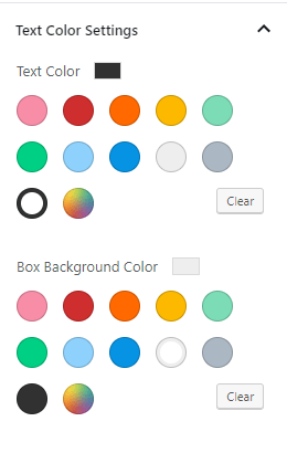 Gosign promo box backend option