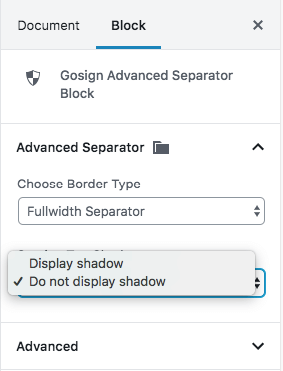 Gosign Advanced Separator fullwidth option - separator3